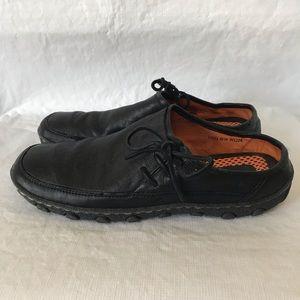 Born Black Leather Slip On Mules Shoes